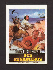 Terence Hill Bud Spencer Vintage 1984 Spanish Movie Film Collector Card A