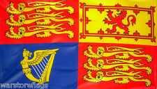 "ROYAL STANDARD FLAG 18""X12"" JUBILEE ELIZABETH II ROYALTY BOATS CARAVANS FLAGS"