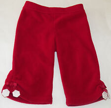 Gymboree Red Snowflake Fleece Pants Size 6-12 Months Baby Girls Infant Soft Snow