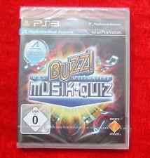 Buzz Das ultimative Musik-Quiz, PS3, PlayStation 3 Spiel, Neu, deutsche Version