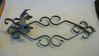 PAIR OF VINTAGE BLACK WROUGHT IRON VOTIVE CANDLE HOLDER, WALL HANGING