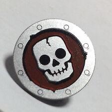 NEW LEGO - Shield - Round Skull Flat Silver x 1 - 7079 7090 7094