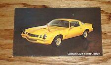 Original 1978 Chevrolet Camaro Z28 Sport Coupe Post Card 78 Chevy