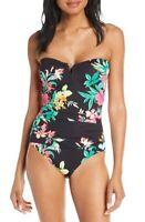 Tommy Bahama Women's 189206 Fleur De Flora Bandeau One-Piece Swimsuit Size 10
