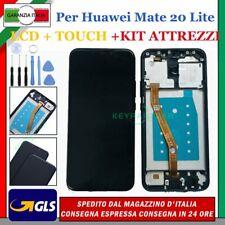 DISPLAY LCD ORIGINALE PER HUAWEI MATE 20 LITE LITE SNE-LX1 TOUCH SCREEN + FRAME