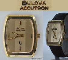 1973 N3 Wristwatch Accutron cal 2210 tuning fork RUNS Battery + 2 leather bands