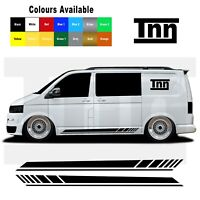 For VW Transporter T5 T6 T4 Sticker Decal Vinyl Camper Van Side Stripe Stickers