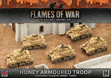 FLAMES OF WAR NUOVO CON SCATOLA Miele BLINDATI Troop (PLASTICA) bbx32