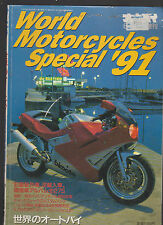 World Motorcycles Special 1991 Japanese Magazine Harley Davidson Triumph