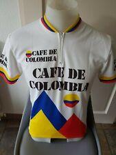 Cafe De Colombia Vintage Retro Rare Cycling Jersey Road Bicycle