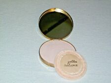 Vintage Metal Powder Make-Up Compact with Mirror & Powder Puff