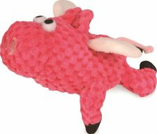"""GODOG SHERPA 6"""" JUST FOR ME CORDUROY CHECKER FLYING PIG TOY. TO USA"""