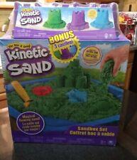 Kinetic Sand, Sandbox Playset w/ 1lb 13.5oz of Kinetic Sand & 3 Molds New Sealed