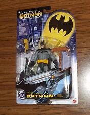 ZIPLINE BATMAN!! DC Comics Universe! 2003 Mattel! black/grey costume! RARE!!