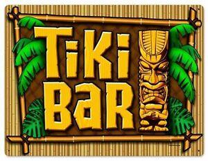 Vintage Tiki Bar Beach Holiday Sun Man Cave Garden Pub Club Metal Plaque SIGN