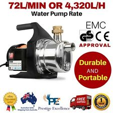 240V 1500W Weatherproof Water Pump Electric High Pressure Tank Garden Irrigation