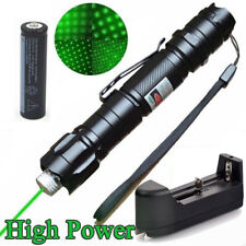 High Quality 10000M Military Green 1mw Laser Pointer Pen 532nm+18650 Battery+CH
