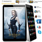 """7"""" Inch Android Tablet 8GB Quad Core 4.4 Dual Camera Bluetooth WiFi Tablet PC US"""