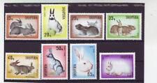 A114-ALBANIA-SG1153-1160 Gomma integra, non linguellato 1967 coniglio allevamento