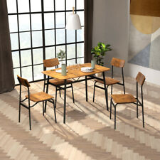5Pcs Dining Table With 4 Chairs Set Modern For Home,Kitchen,Dining Room US Stock