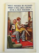 "Vintage Postcard - ""Wont Mother be Pleased"" #4265"