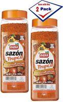 2 Pack - Badia SAZON TROPICAL with Coriander & Annatto 1.75 Lbs each