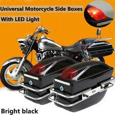 Motorcycle Side Pannier Box Luggage Tank Tail Hard Case Saddle Bags Rack
