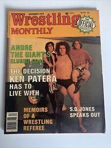 Wrestling Monthly Magazine December 1978 Andre the Giant Ken Patera Vintage