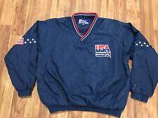 Mens Vtg 90s USA Basketball Dream Team Pro Player Pullover Windbreaker Jacket XL
