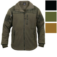 Spec Ops Tactical Fleece Jacket Full Zip Military Army Uniform Sports Top Coat