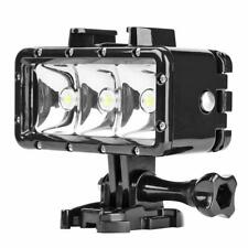 40m Waterproof 3LED Diving Fill Light 300LM Flashlight for Gopro Hero 7 6 5