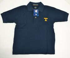 Tennessee Vols Boy's Polo Shirt, Embroidered Power T, Navy Blue Youth Small