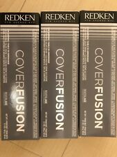 THREE TUBES OF REDKEN COVER FUSION 100% COVERAGE COLOR CREAM Hair Color