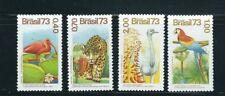 BRAZIL 1973 JAGUAR MACAW RHEA WILDLIFE theme (Sc 1328-31) VF MNH