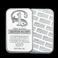 1 oz Northwest Territorial Mint Silver Bar .999 Fine- 50% OFF