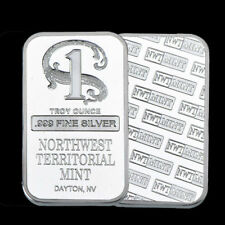 1 oz Northwest Territorial Mint Silver Bar .999 Fine- 50% OFF