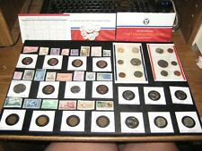 New listing Huge Junk Drawer Coin Lot 1987 Mint Set Old Stamps Indian Head Penny Lot Nickels
