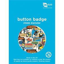 Dc Comics Pattern Button Badge - 25mm Film Super Hero Comic Fan Official