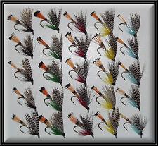 25 teals trota scozzese a mano legato Pesca mosche bagnate Teal Fly Mulinello canna per la linea 8