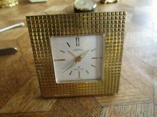 Vintage Gold plated ANGELUS Wolfers 8 Days Desk Alarm Clock. Cal. 243. For parts