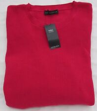 LADIES MARKS & SPENCER CERISE PINK JUMPER WITH PLEATED SLEEVE SIZE 20