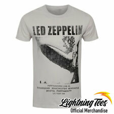 Official Led Zeppelin UK Tour 69 Rock Band Grey T-Shirt