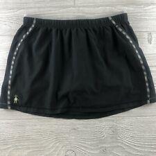 Smartwool Women PhD Run Shorts Black Gray Medium Lined LightWeight (O63)