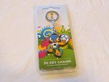 soccer 2014 FIFA World Cup Brazil 3D keychain key ring NEW RARE emblem mascot
