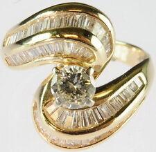Ladies 14K Yellow Gold Diamond Engagement Band Estate Ring 146006