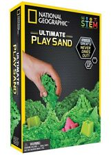 🚛Fast Shipping! National Geographic Green Kinetic Play Sand Molds & Tray