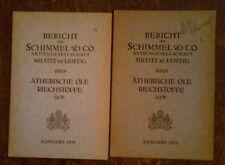 BERICHT DER SCHIMMEL & CO. MILTITZ BZ.LEIPZIG , 2 VOLUMI , 1935 , IN TEDESCO