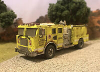 Code 3 Fire Truck Custom 1/64 Diecast Rusty Weathered Barn Find Fire Engine
