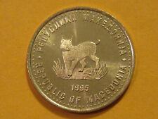 Macedonia 5 Denari Coin 2008 KM#4 European lynx from mint bag