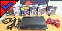 Sony PlayStation 3 Super Slim 250GB Console + 6 Games + Controller +Cable ✅